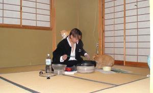 猫と一緒にクリスマスディナー