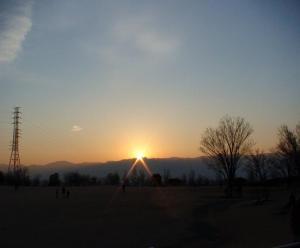 ドラゴンパークから見た、あまりパッとしない初日の出