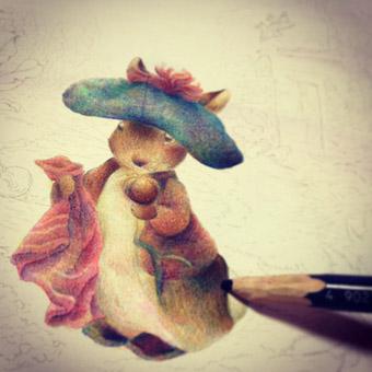 塗り絵途中
