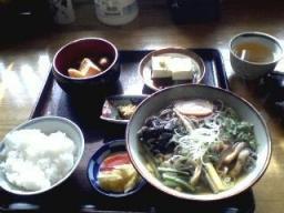 山菜そば定食