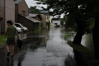 五泉洪水②
