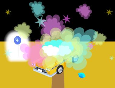 タクシー雲