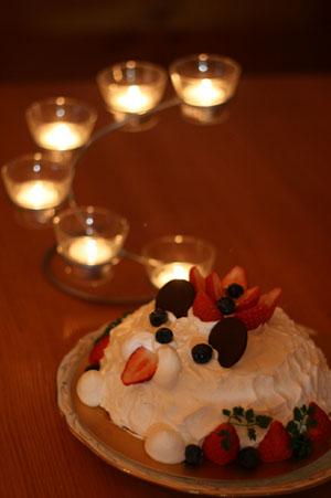 わんわんショートケーキ