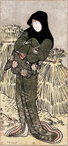 四代目岩井半四郎の鎌倉稲村が崎のおひな娘おとま実は楠政成女房菊水