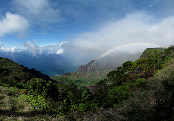 Kalalau Valley Double Rainbow