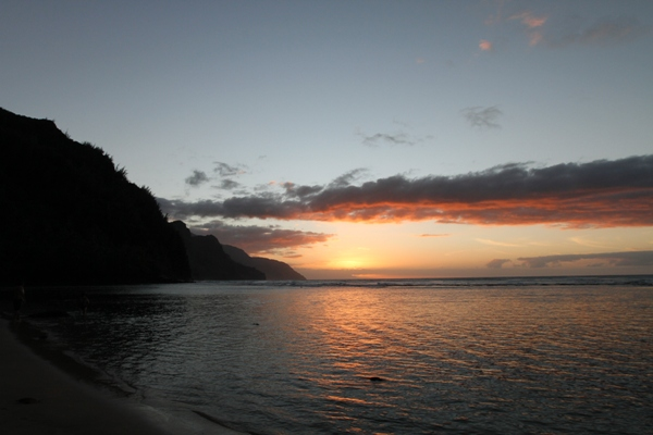 Napali Sunset from Kee Beach