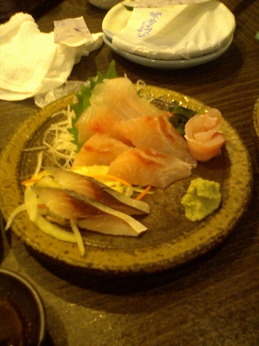 本日のおすすめ 黒鯛刺身+〆鯖2切れオマケ