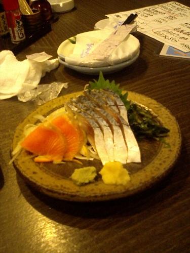 本日のおすすめ 〆さば+サーモン2切れ オマケ