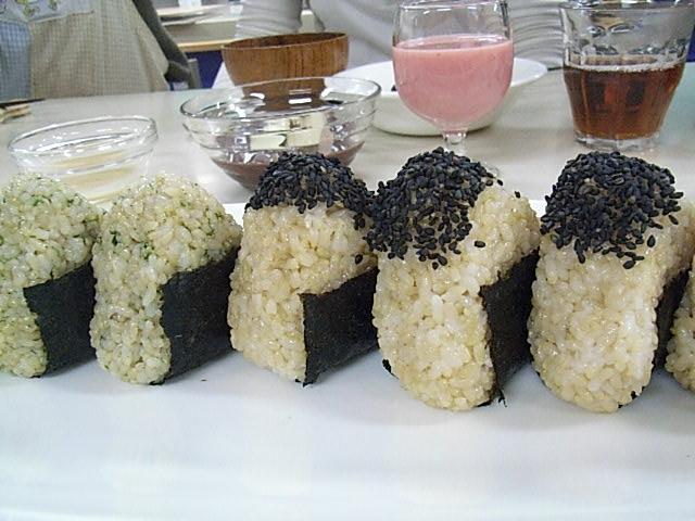 玄米おむすび