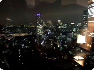 イベント会場から見える夜景