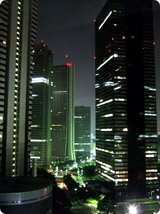ヒルトン東京 21階からの夜景