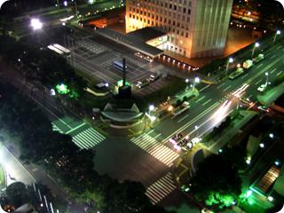ヒルトン東京 21階から見下ろした夜景