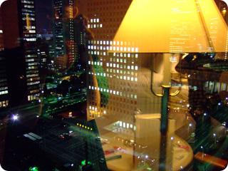 ヒルトン東京 21階からの夜景とvivi達