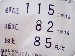 viviの血圧結果