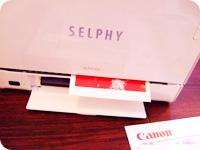 SELPHY ES2・印刷中