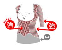 胸寄せ5分袖(スーパーハイパワー)