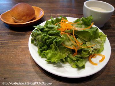 麹町カフェ◇ランチのサラダとスープ