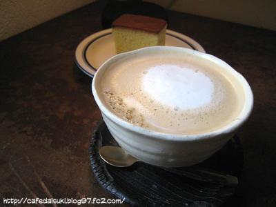 coffee rantana◇カステラセット(ミルク珈琲)