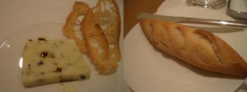 小さな前菜とパン