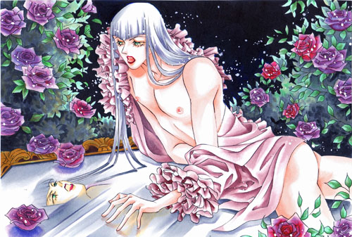 薔薇の茂みの中で001