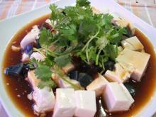 ピータン豆腐のできあがり