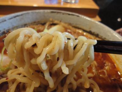 鮪豚骨麺 辛味噌 麺@蓮海さん