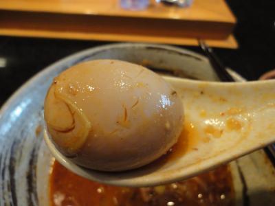 鮪豚骨麺 辛味噌 味たまご@蓮海さん