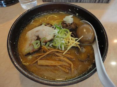 豚そば味噌+煮玉子@丸鶏庵さん