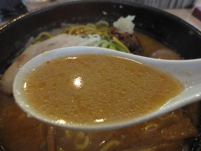 豚そば味噌 スープ@丸鶏庵さん
