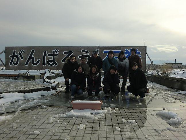 石巻二日目視察-南浜全体写真