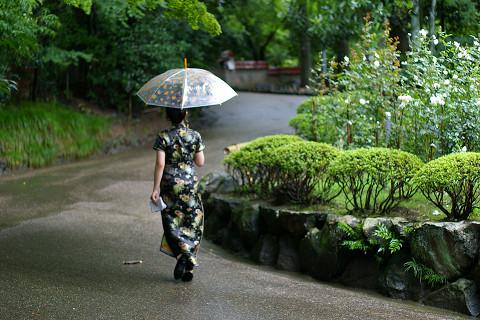 雨傘・チャイナドレス