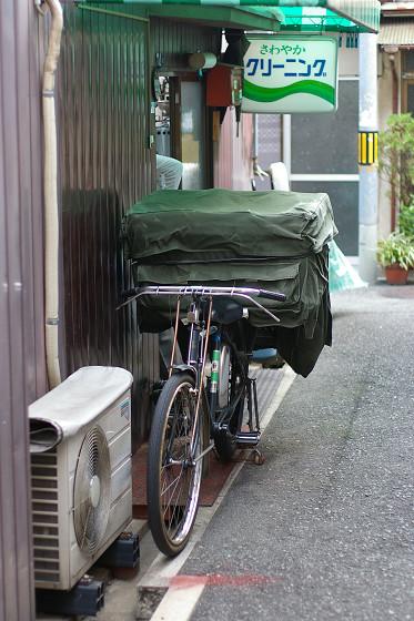 仕事の自転車