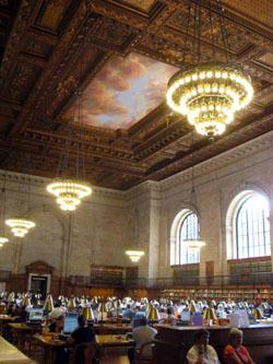 NY図書館のメインの部屋 ローズ・ルーム