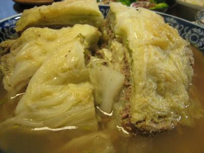 白菜とひき肉の重ね蒸し