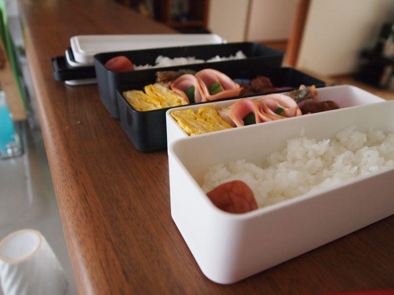 ... 無印良品 2段弁当箱 + 箸セット + シリコン仕切りの写真