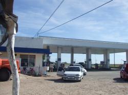 途中休憩したガソリンスタンド