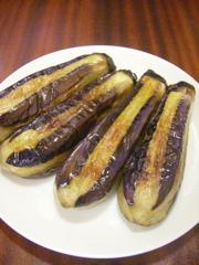 茄子の肉詰め行程1