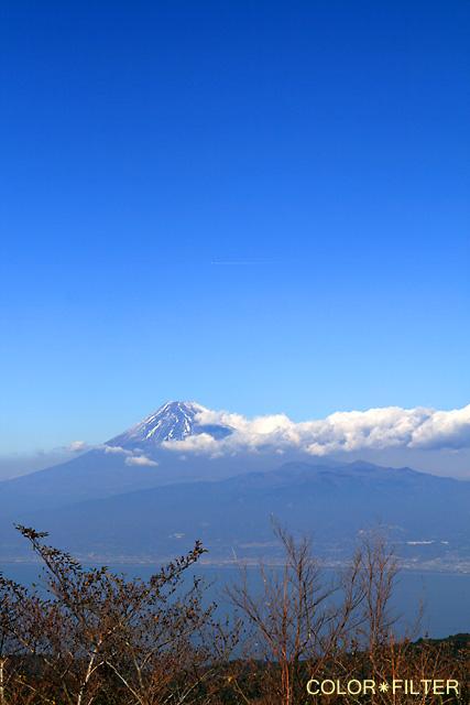 富士山とひこうき雲