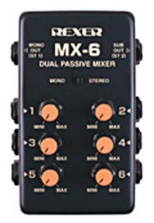 7350REXER 6chマイクロミキサー MX-6