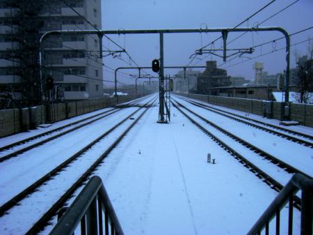 20080203雪降り線路