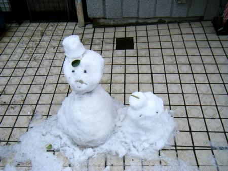 20080203雪だるまの親子