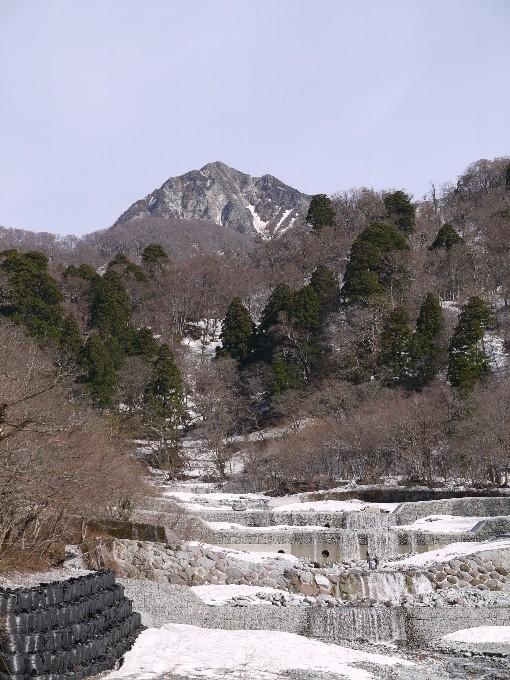 登山口から見た剣ヶ峰
