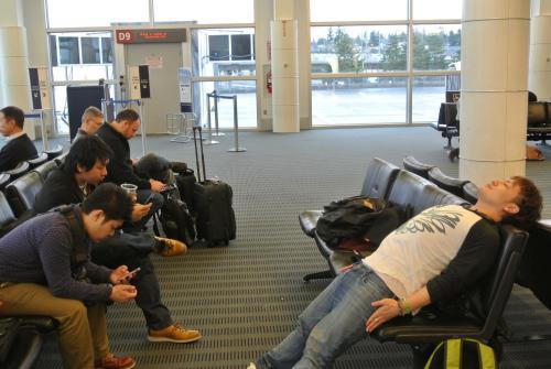 シアトル飛行機待ち