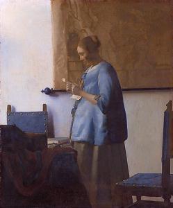 フェルメール「手紙を読む青衣の女」