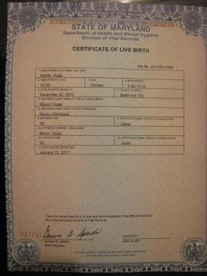 Birth certificate⑧