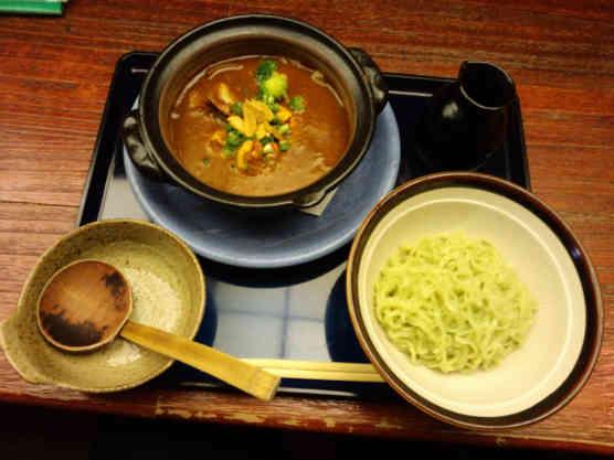 海老勢えびカレーつけラー麺110412a