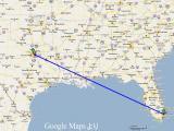 1,800kmを旅した猫の地図