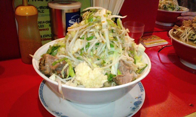 豚入り 大盛り×2 ¥750+¥200