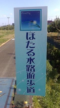 ほたる水路遊歩道