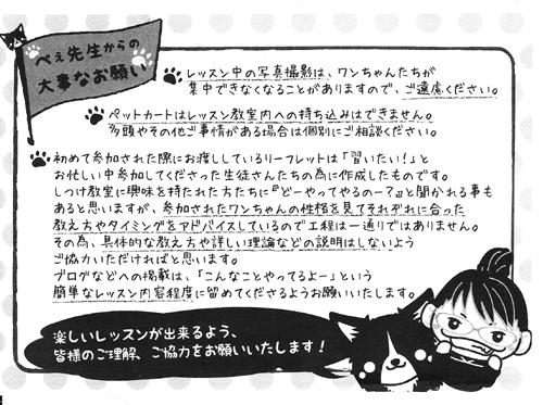 ぺぇ先生からのお願い(小)